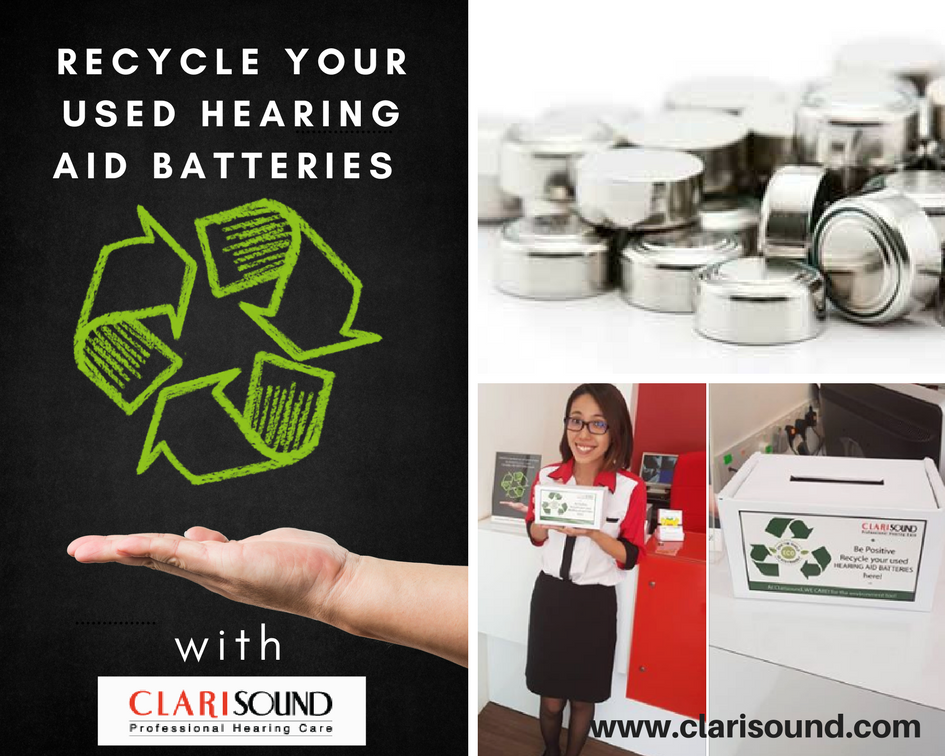 Recycle your used hearing aid batteries with Clarisound today