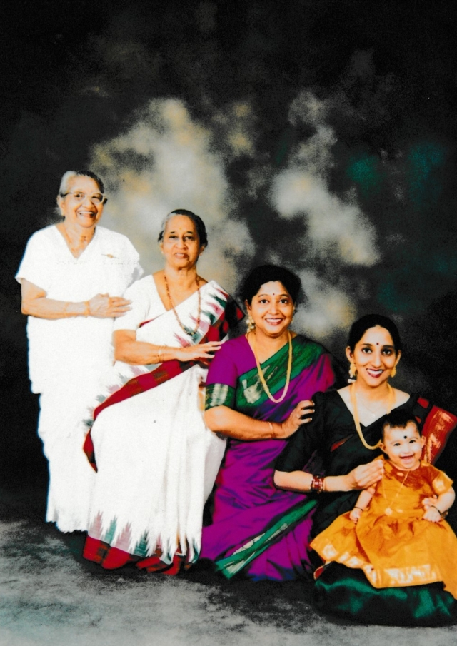 Gnanambihai Family 5 generations photos